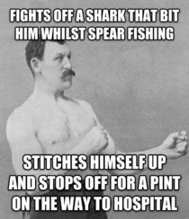 True-Life Overly Manly Man seen in todays Guardian