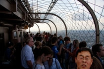 Trying to take a picture from the Eiffel Tower