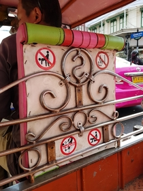 Tuk tuk stickers in Bangkok
