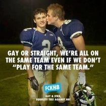 Two guys from my old high-school took this picture as a joke A website that promotes equality found it and posted this on their website
