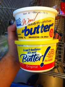 two margarine-ly different brands