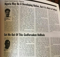 Two perspectives on Nigeria