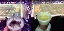 Two Redditors lament frozen beer from opposite sides of the Bears game