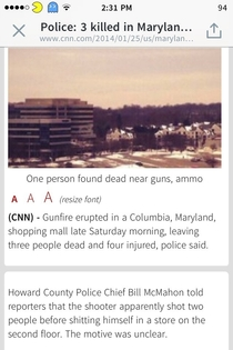 Um CNN The shooter did what