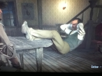 Unbelievable leg strength shown in red dead redemption