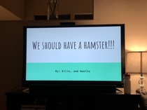 Unexpected parenting moment PowerPoint presentations from my kids