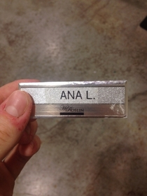 Unfortunate name tag I found at work