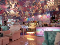 Unicorn cafe in Bangkok Its like Lisa Frank threw up all over the place
