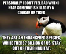 Unpopular Opinion Puffin on Cougar attacks