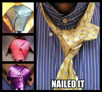 Use the Trinity Knot Reddit said Youll look so dapper
