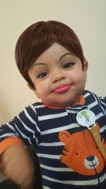 Used a make up app on my  year old son and it turned him into a strong independent woman who dont need NO man