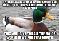 Useful trick to keep up with world news