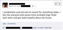 Using AOL as your search engine