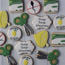 Vasectomy celebration cookies