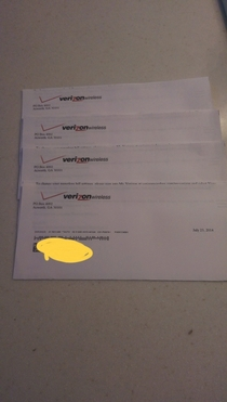 Verizon wanted to thank me for enrolling in paperless billing times