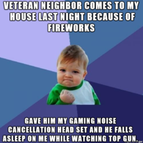 veteran neighbor comes to my house