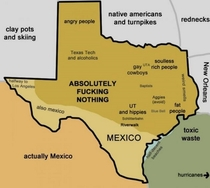 Visiting Texas this month My understanding of the state so far
