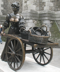 Visitors to Dublin find dropping by the statue of Sweet Molly Malone to be a touching experience