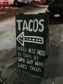 Voted best tacos