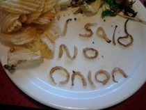 Waiter was clearly not paying attention