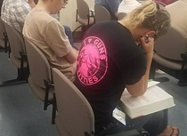 Waiting for potential Jury duty and spot the girl in front wearing the best t-shirt Is this a sure fire way to avoid being selected