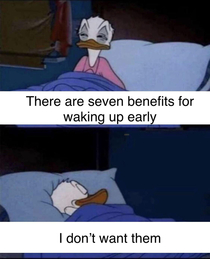 Waking up early