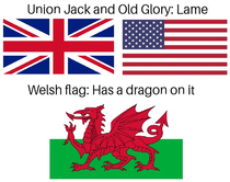 Wales wins at flags