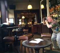 Walked in my local pub to find this little guy having a photoshoot