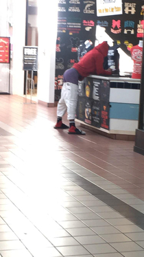 Walked up to this guy at the mall He is probably available