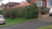Walking around and saw this terrifying hedge