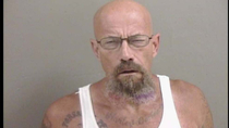 Walter White after  years of meth addiction Mans mugshot grabs attention of Breaking Bad fans