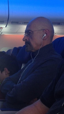 Walter White is on my plane