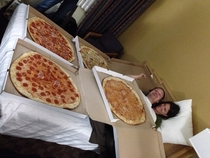 Was at a hotel party and these were the four large pizzas they ordered