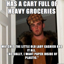 Was behind this awesome human being in line at the grocery store today