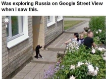 Was exploring Russia on Google Street View when I saw this