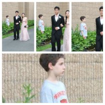 Was going through prom photos when I spotted my little brother