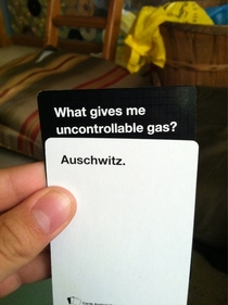 Was playing cards against humanity and this happened
