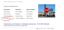Was searching for Oxymoron examples when