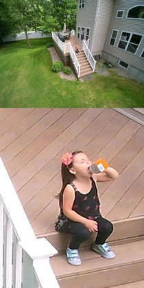 Was showing my niece my drone but she seemed more focused on chugging goldfish crackers
