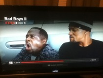 Was watching Bad Boys  when I had to answer a phone call Came back to the best pause screen ever