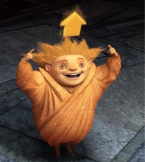 Was watching Rise Of The Guardians with my kids when I noticed Sandy is one of us