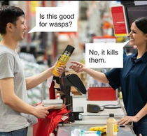 Wasps are afraid of it