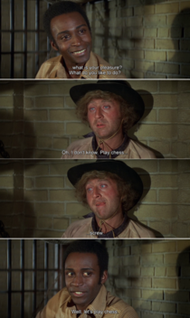 Watch Blazing Saddles for the first time and this scene gave me a good laugh