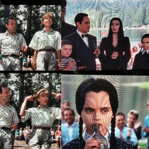 watch this movie as a kid thought The Addams Family was strange watching this movie as an adult and I totally relate to them especially this scene
