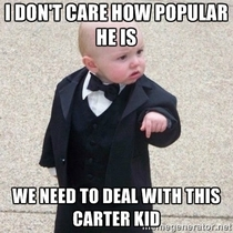 Watch your back Carter