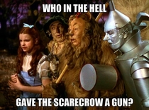 Watched the Wizard of Oz with my kids and saw something new