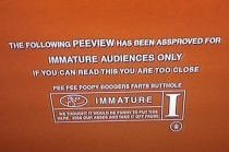 Watching Scary Movie  I finally noticed what the Movie theater rating scene says