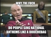 Watching the all star game and the girl ruined The Star-Spangled Banner