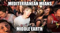 Watching The Hobbit and eating a kebab when I realized this
