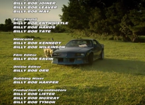 Watching Top Gear and realized they changed the names in the credits to southern names for the episode filmed in Alabama